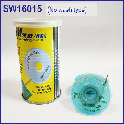 10pc Itw Chemtronics Sw16015 Soder-wick Tin Suction Line In Tin Canss