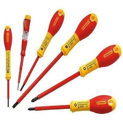 Stanley Set 6 pezzi Cacciaviti Giraviti Isolati 1000V elettricista 0-65-443