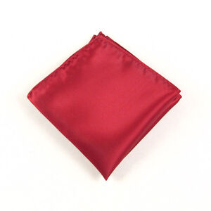 classics Mens Silk Satin Pocket Plain Solid Color Square Hanky Hankerchief WHS7