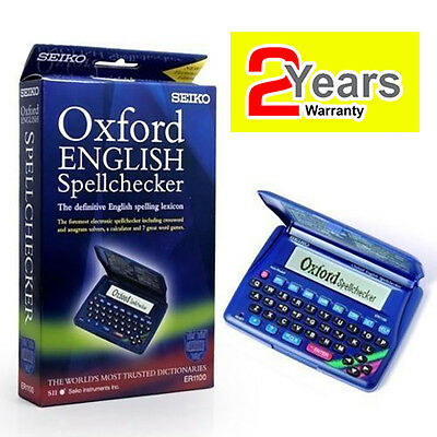 SEIKO ELECTRONIC ENGLISH SPELL CHECKER CROSSWORD SOLVER + 7 WORD GAMES ER-1100