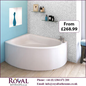 Best Quality Pilot Back To Wall Single Ended Acrylic Bath & Pa
