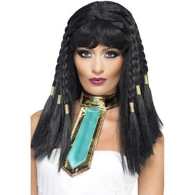 Perücke Cleopatra, geflochten, schwarz    - Schwarz Geflochtene Perücke
