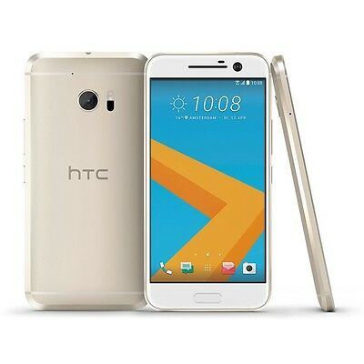 """New HTC 10 M10 Gold Factory Unlocked GSM Android 4G LTE 12MP 4GB / 32GB 5.2"""""""