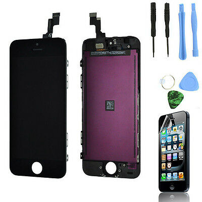 Black Touch Screen Digitizer + LCD Display Assembly for iPhone 5C Replacement US on Rummage