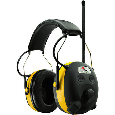 3M tekk WORKTUNES Digital AM FM MP3 Radio Hearing Protection
