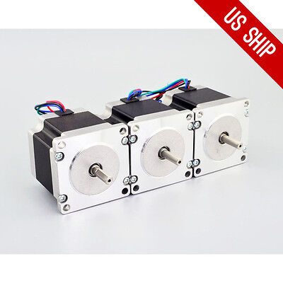 Us Free Ship 3pcs Nema 23 Bipolar Stepper Motor 179oz.in1.26nm 2.8a 4-lead Cnc