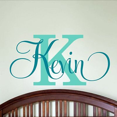 - Sticker Decor Boys Bedroom Personalized Name Nursery Vinyl Decal Wall Art Baby