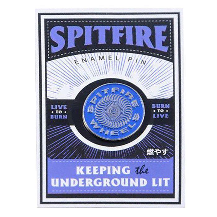 Spitfire Wheels SWIRL CIRCLE LOGO Skateboard LAPEL PIN