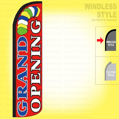 Grand Opening - Windless Swooper Flag 2.5x11.5 Ft Feather Banner Sign Rz044