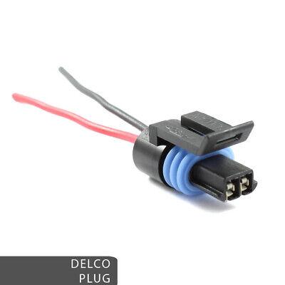 Delco / Daewoo Alternator Loom Repair Plug - 2 Pin Plug Pre-wired - Mercruiser