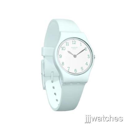 New Swiss Swatch Originals GREENBELLE Women Petite Silicone Watch 25mm LG129