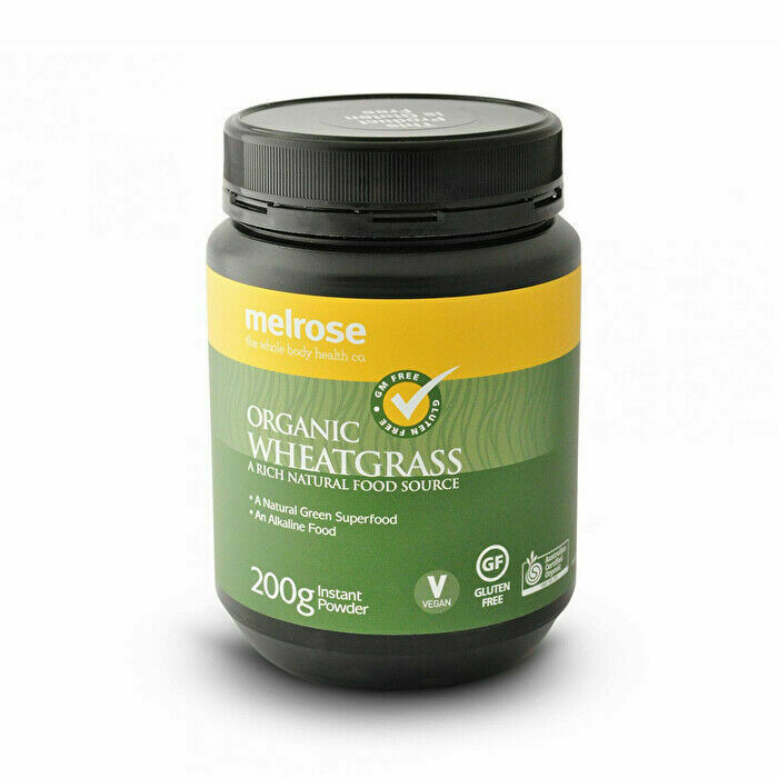 Melrose Organic WheatGrass Powder 200g Certified Alkaline Food Exp 2023