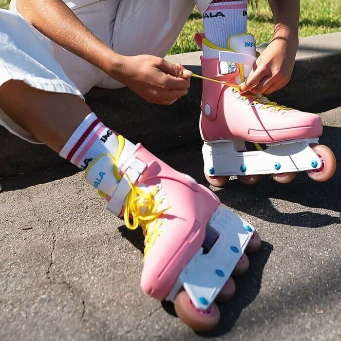 Impala LightSpeed Inline Skate - Pink/Yellow - Size 10