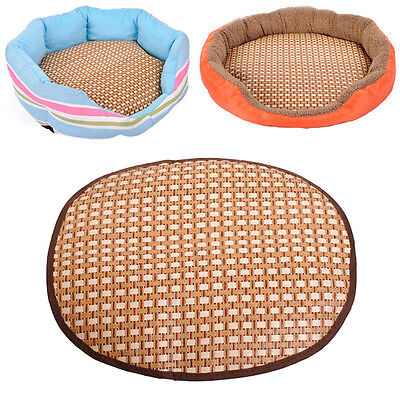 Comfortable Cool Round Pet Cat Dog Straw Bamboo Mat Specially Pet Supply Pads
