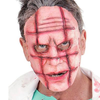Halloweenmaske Latex mit Brandwunden Narbenmaske Kostümzubehör Grusel