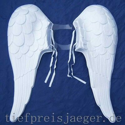 WEIßE ENGELSFLÜGEL # Kunststoff PVC Engel Flügel Engelflügel Kostüm Zubehör - Weiße Engel Flügel Kostüm