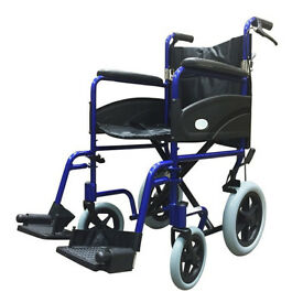 z tek wheel chair with brakes folding
