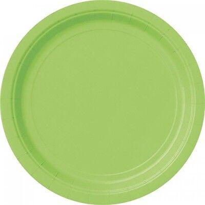 grasgrüne Pappteller, einfarbige Partyteller in Grün, 8er Pack, d=23cm