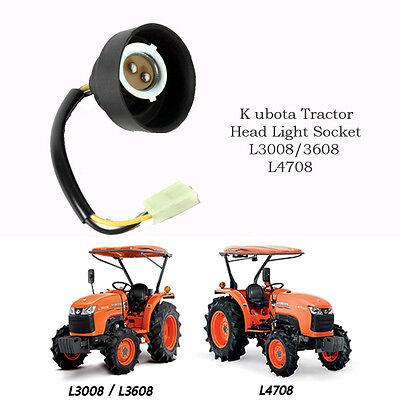 Use For Kubota Tractor Head Light Head Lamp Socket L 3008 3608 3608dt 4708 1 Set