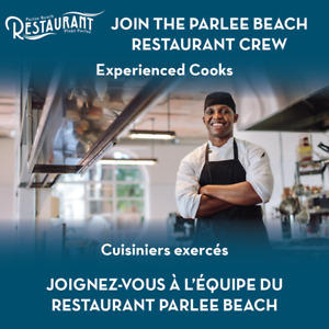 Experienced Cooks Needed - Parlee Beach Resturant