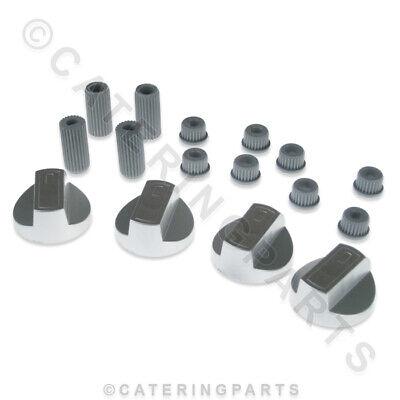 4 Backofen Knöpfe Universal Ersatz Farbauswahl Schwarz Weiß oder Silber