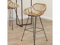 Set of 4 still in box bamboo bar stools | minimal scandi Industrial worth £800