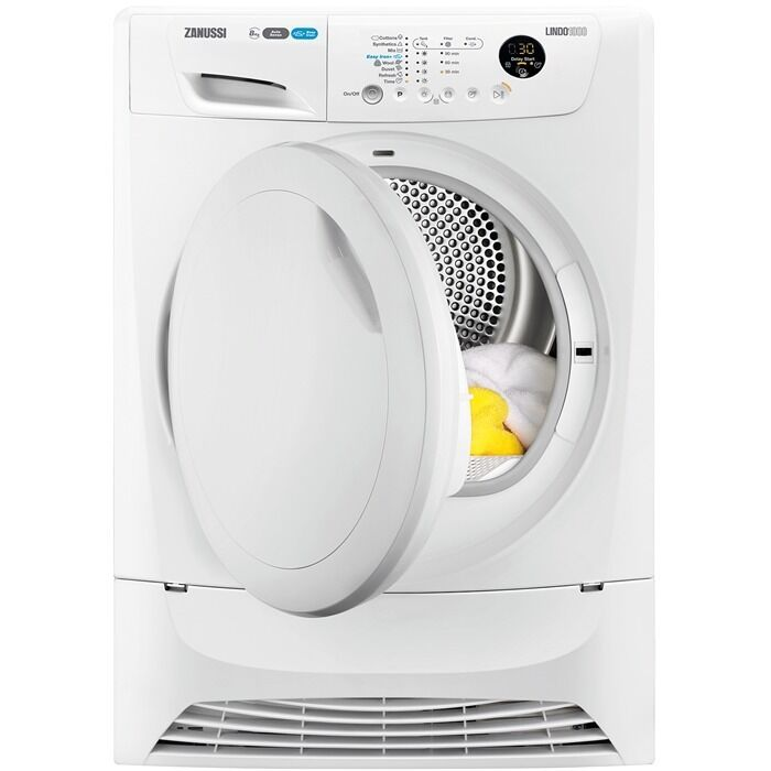 Zanussi Lindo 1000 8kg Heat Pump Condenser Tumble Dryer in White A Energy Efficiencyin Barking, LondonGumtree - Zanussi Lindo 1000 8kg Heat Pump Condenser Tumble Dryer in White A Energy Efficiency • For smart cost and smart results, this heat pump condenser 8kg tumble dryer means less work, lower bills and more free time. • It lets you do your drying...