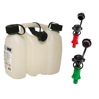 Doppelkanister 3+1,5 Liter inkl. 3 Ausgiesser NEU 2x Sicherheits-Einfüllsystem