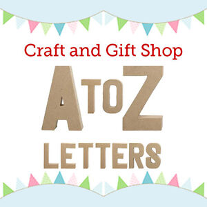 10-Pack-Small-3D-Paper-Mache-Papier-Mache-Cardboard-Letters-Decorate-Decopatch