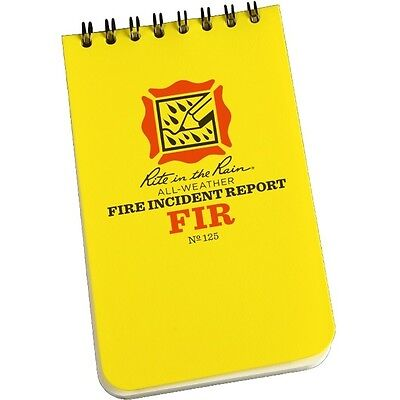 Rite In The Rain 125 All-weather Fire Incident Report Notebook 3 X 5