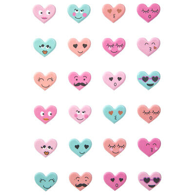 Valentine Day Crafts (Heart Faces Puffy  Stickers Valentine's Day Planner Papercraft Party DIY Crafts)