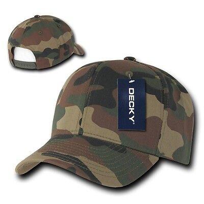 Woodland Forest Camouflage Curve Bill Snapback Camo Baseball Cap Caps Hat Hats Baseball Caps Woodland Camouflage Cap