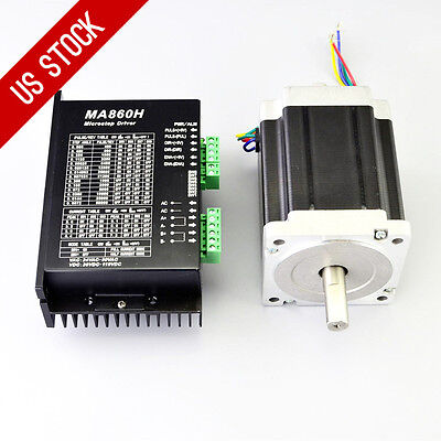Us Ship 1 Axis Cnc Kit 1204oz.in Nema 34 Stepper Motor Driver Cnc Mill Router