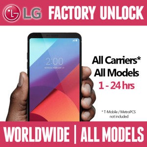 Unlock code for any LG Phone
