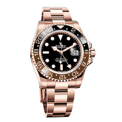 "Rolex GMT-Master II ""Root Beer"" Black Dial Black/Brown Ceramic R/G 126715CHNR"