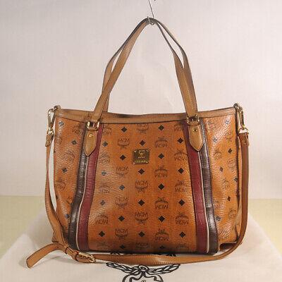 AUTHENTIC MCM Visetos Cross Shoulder Bag + Dust cover