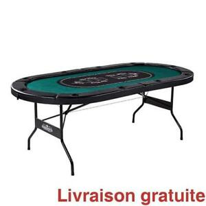 Table de poker pliante /  10 Player Poker Table