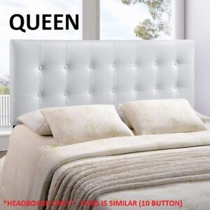 New White button tufted queen headboard - sealed package
