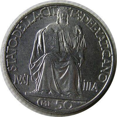 elf Vatican City 50 Centesimi 1942 Pius XII  World War II