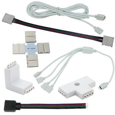 Zubehör für RGB LED-Streifen - Connectoren Verbinder Verteiler Verlängerungen