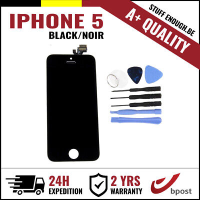 A+ LCD TOUCH SCREEN VITRE DISPLAY/SCHERM/ÉCRAN BLACK NOIR & TOOLS FOR IPHONE 5