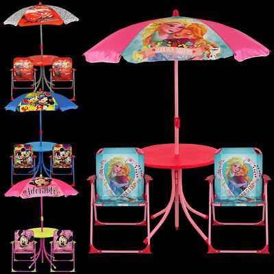 Disney Sitzgruppe Campingstuhl Sonnenschirm Tisch Stuhl…  