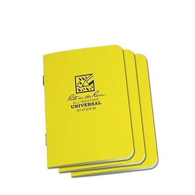 Rite In The Rain 371fx-m All-weather Universal Stapled Notebooks Yellow