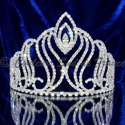 """bijou cheveux Diadème Miss Accessoire mariage cristal /""""Elfe/"""" argenté ou doré"""