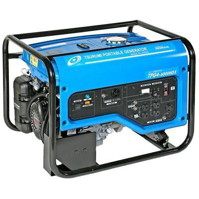 Tsurumi Tpg4-6000hdx - 5500 Watt Professional Portable Generator Pickup New