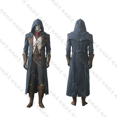 Assassin's Creed 5:Unity Arno Victor Dorian Cosplay Gray Outfit Costume Suit Set - Assassin Creed Suits