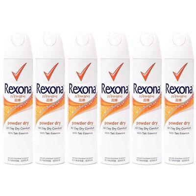 6 x  Rexona POWDER DRY Deodorant Anti-perspirant Body Spray For Women 150ml Each Deodorant Body Spray Anti Perspirant