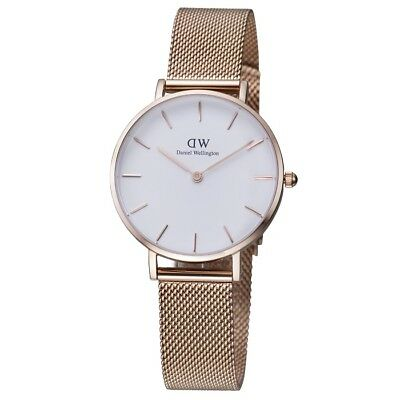 Daniel Wellington Classic Petite Melrose Rose Gold Mesh Ladies Watch DW00100163
