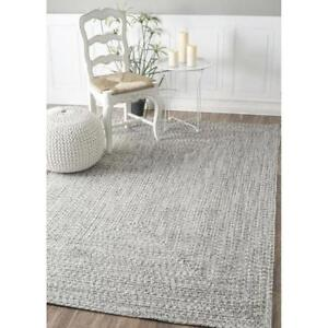New, Nuloom 5' x 8' Braided Lefebvre Rug in Salt and Pepper *PickupOnly