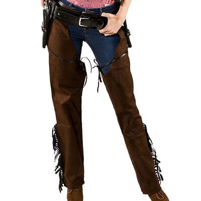 Hochwertige Western Damen Chaps im Lederlook  für Cowboykostüme und mehr
